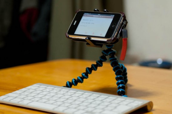 iPhoneスタンド Bluetoothキーボード オクトパストライポッド